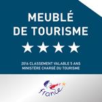 Certification Meublé de Tourisme 4 étoiles